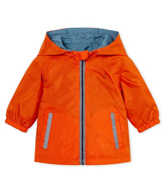 Giacchetta reversibile neonato arancione Carotte / blu Fontaine