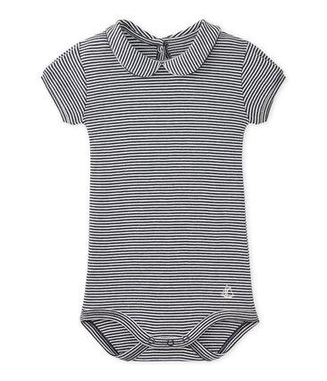 Body bebé bambina con colletto rigato
