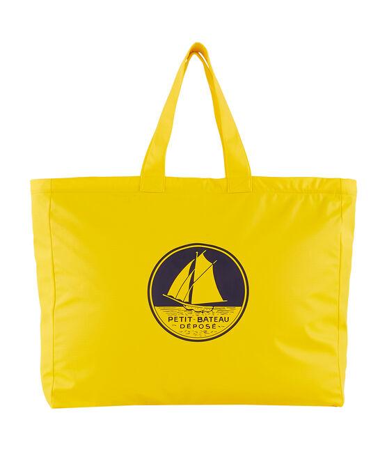 Borsa shopping tinta unita giallo Jaune