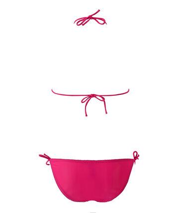 Costume da bagno 2 pezzi tinta unita rosa Petunia