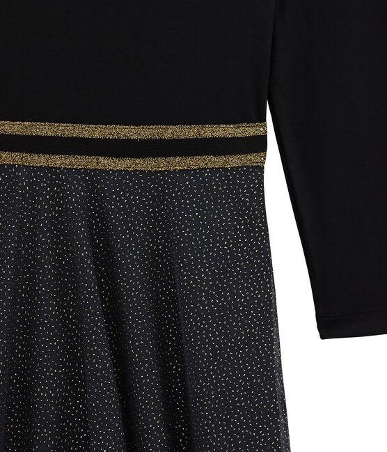 abito doppio tessuto donna nero Noir / giallo Dore