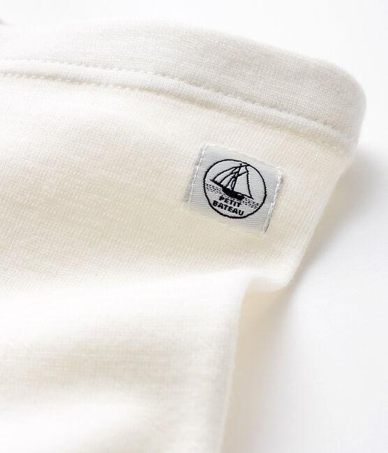 Ghettine neonato in lana e cotone bianco Marshmallow