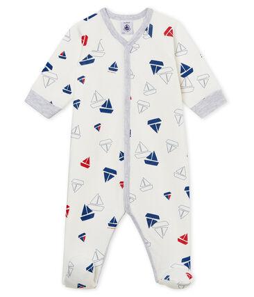 Tutina pigiama bambino in tubique bianco Marshmallow / bianco Multico