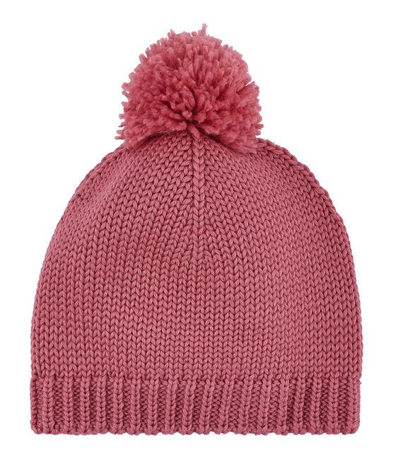Cappello con pompon unisex rosa Cheek