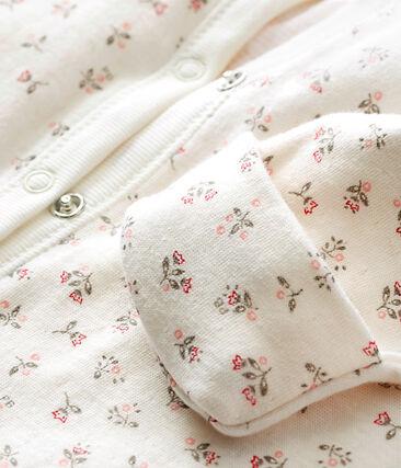 Combisac stampato per bebé femmina in tubique bianco Marshmallow / bianco Multico