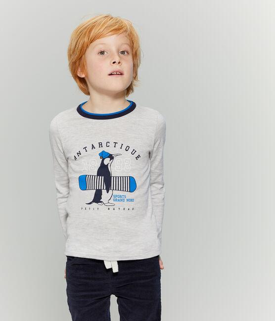 T-shirt a manica lunga bambino grigio Beluga