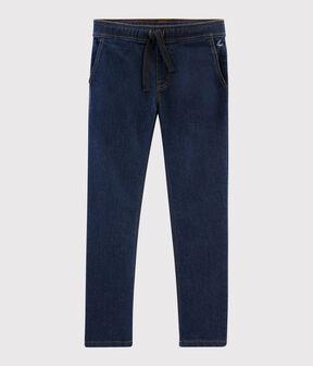 Pantaloni in molleton denim bambino blu Denim Bleu Fonce