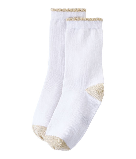 Calze bambina tinta unita bianco Marshmallow