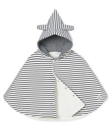 Mantella iconica bebè a costina in ovatta bianco Marshmallow / blu Smoking