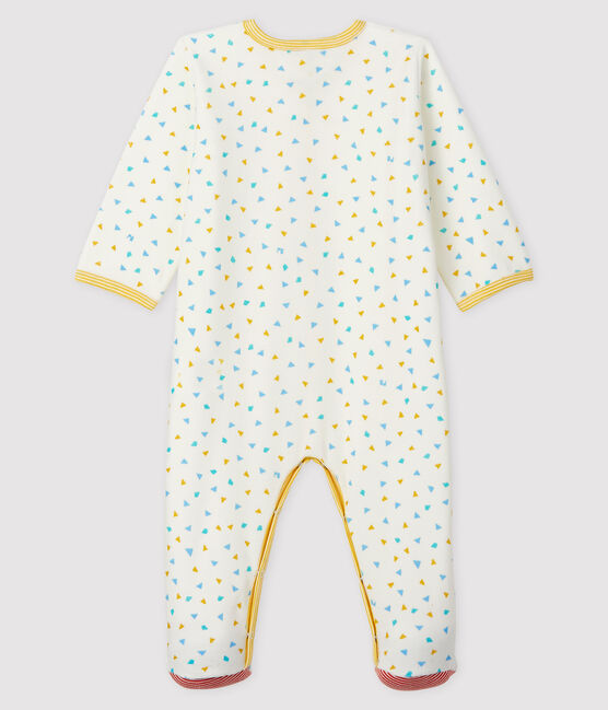 Tutina fantasia coriandoli bebè in ciniglia bianco Marshmallow / bianco Multico