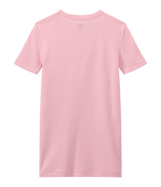 T-shirt donna in costina originale 1x1 rosa Babylone