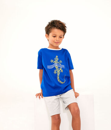T-shirt bambino blu Surf