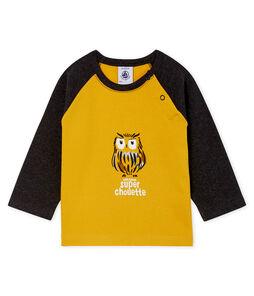 T-shirt a manica lunga bebè maschio giallo Boudor / nero City