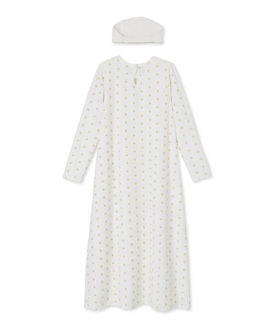 Camicia da notte da bambina bianco Marshmallow / giallo Dore