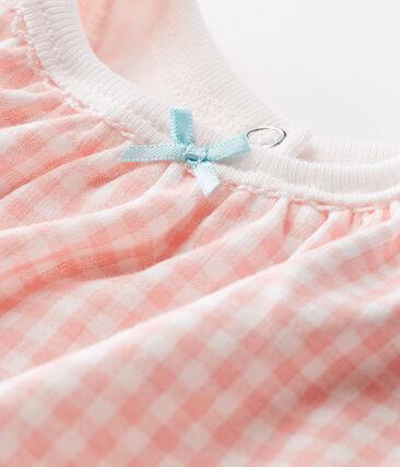 Tutina corta bebè bambina a costine