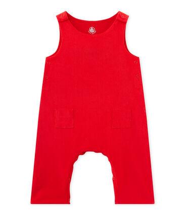 Salopette per bebè maschio in velluto rosso Froufrou