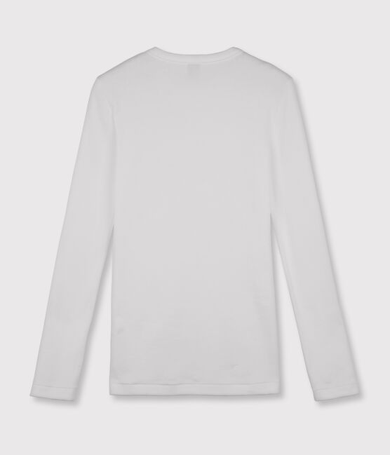 T-shirt iconica scollo rotondo Donna bianco Ecume