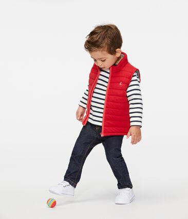 Giubbotto senza maniche bebè maschietto rosso Terkuit
