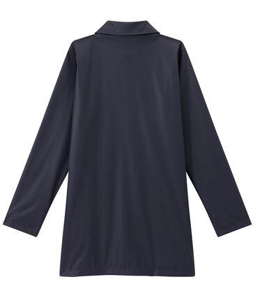 Cerata donna impermeabile stile cappotto blu Smoking