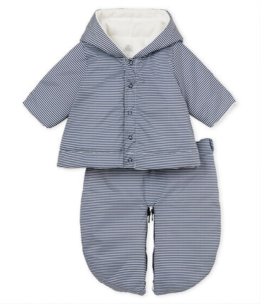Titina da pilota 3 in 1 bebè unisex blu Smoking / bianco Marshmallow