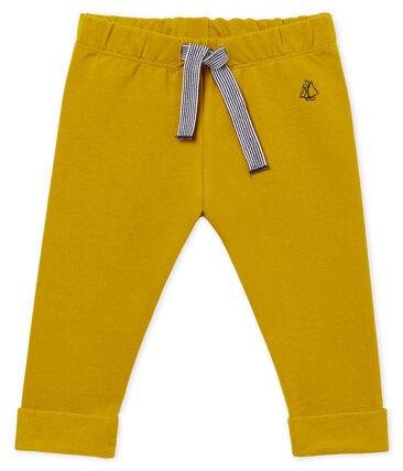Pantalone maschietto in molleton leggero a tinta unita