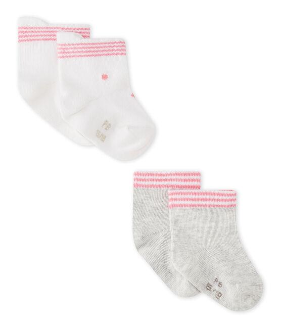 Lotto di 2 paia di calze bebé unisex lotto .