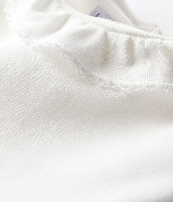 Body con colletto rotondo arricciato bebè femmina bianco Marshmallow