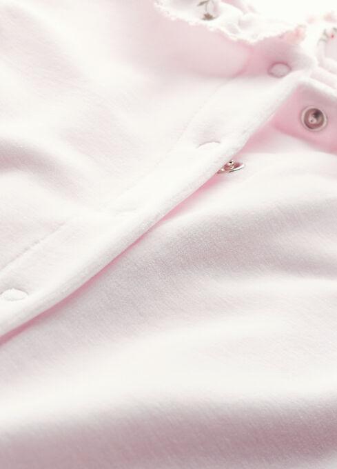 Tutina per bebè femmina in ciniglia rosa Vienne