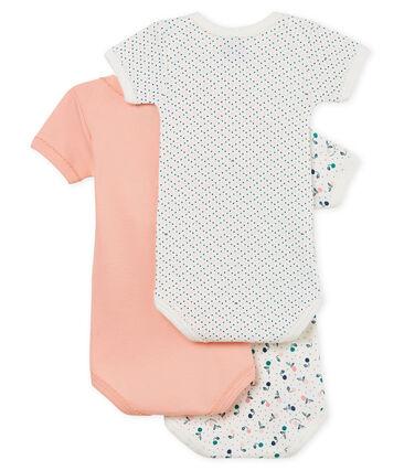Trio body manica corta bebè bambina