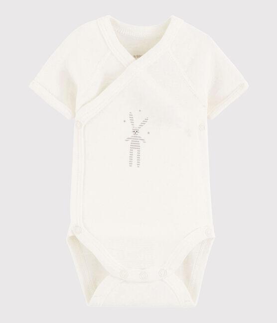 Body incrociato a manica corta bebè unisex MARSHMALLOW/DIDOU1