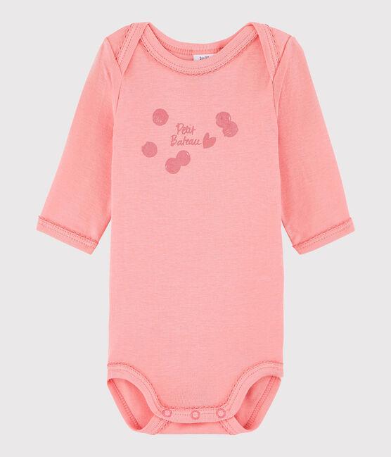 Body manica lunga bebè femmina rosa Gretel