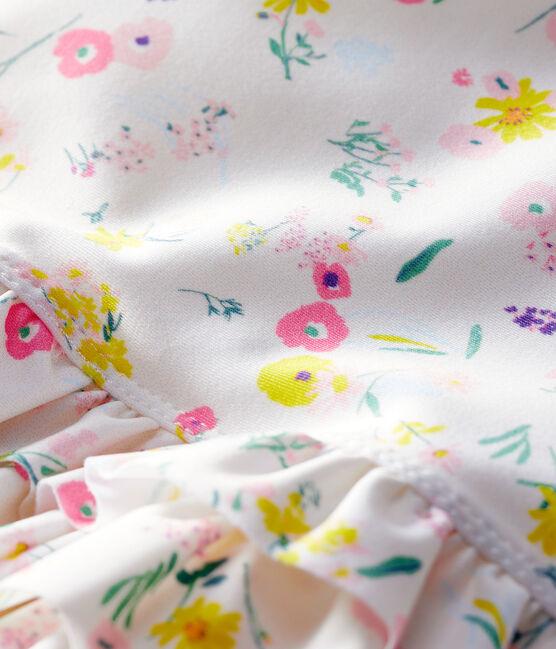 Costume da bagno intero ecoresponsabile bimba bianco Marshmallow / bianco Multico