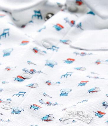 Body bebé stampato con colletto