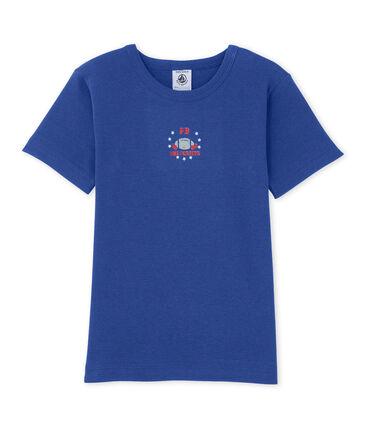 T-shirt bambino con motivo blu Peter