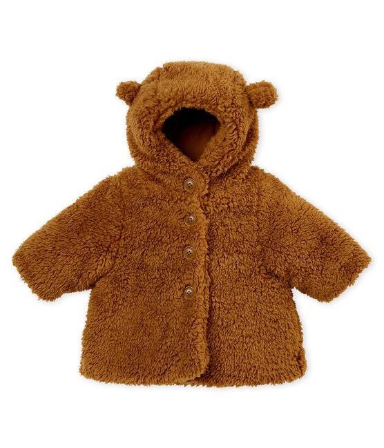 Cappotto bebè femmina in sherpa marrone Brindille