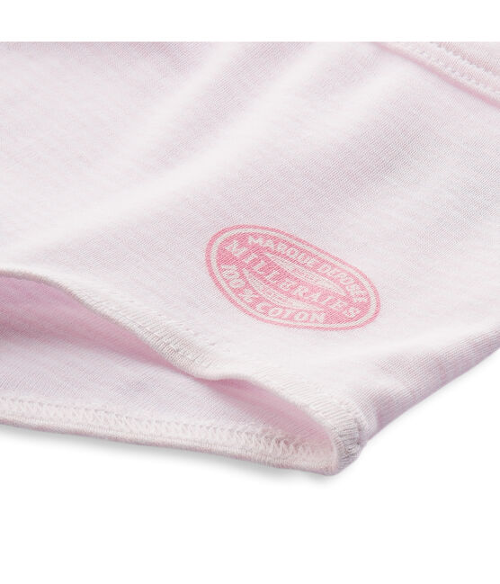 Shorty bambina a millerighe rosa Vienne / bianco Ecume