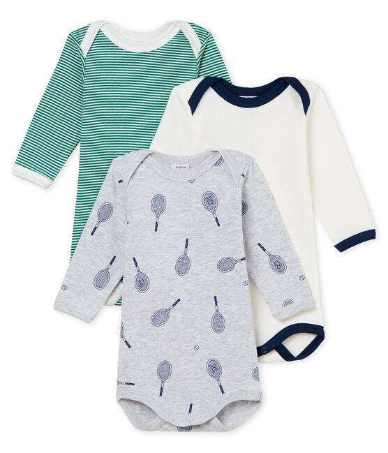 Trio body manica lunga bebè maschietto lotto .