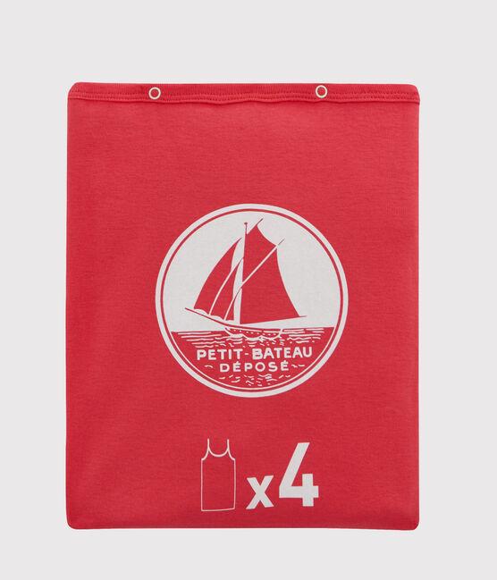 Pochette a sorpresa di 4 canottiere con spalline bambina lotto .