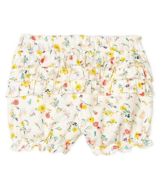 Culotte bloomer bebè femmina fantasia bianco Marshmallow / bianco Multico