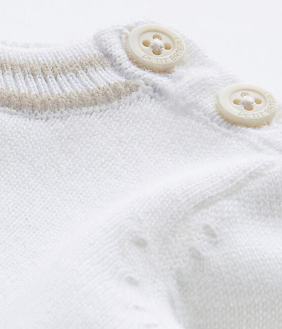 Pull bebé bambino in tricot bianco Marshmallow