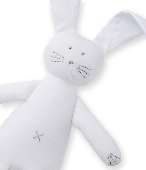 Doudou coniglietto bebè in jersey bianco Ecume