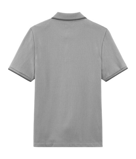 Polo maniche corte uomo grigio Beluga Chine