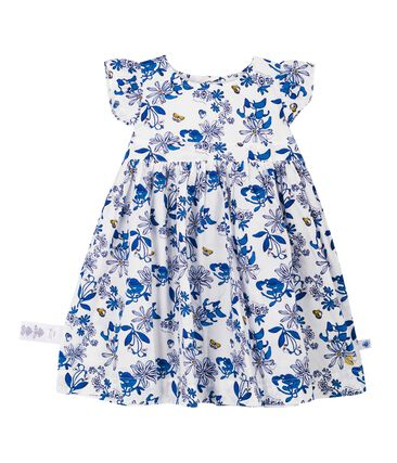 Abito mc fantasia bebè femmina bianco Marshmallow / bianco Multico Cn