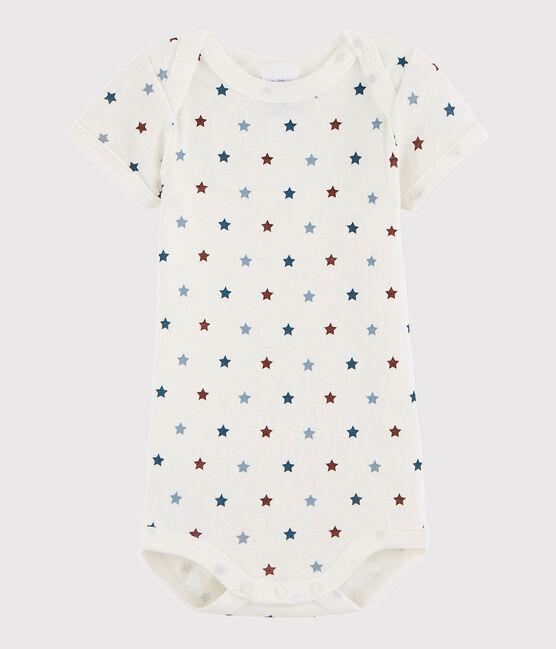 Body a manica corta bebè unisex bianco Marshmallow / bianco Multico