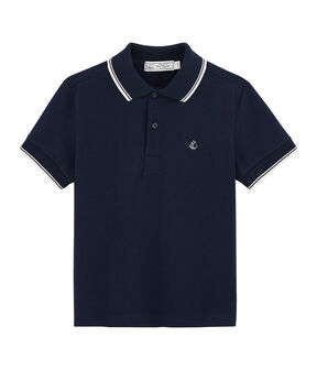 Polo bambino blu Smoking