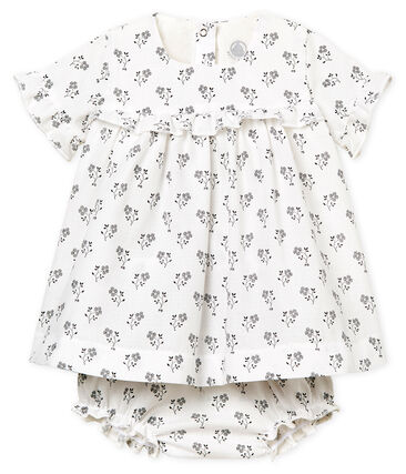 Abito fantasia e bloomer bebè femmina bianco Marshmallow / bianco Multico
