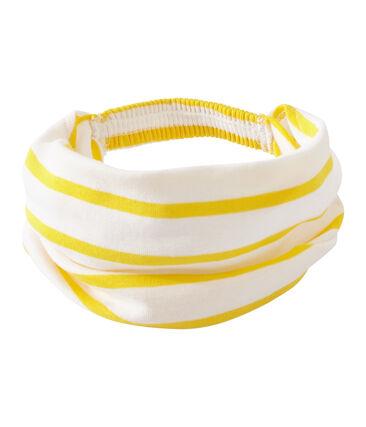 Bandana bambina rigata bianco Marshmallow / giallo Shine