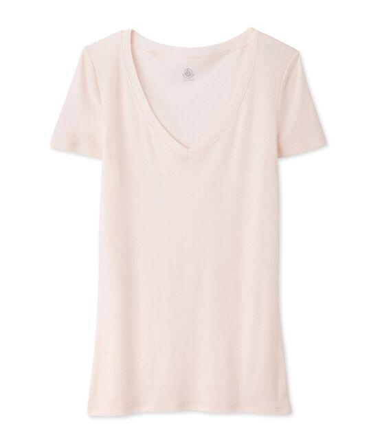 T-shirt a maniche corte con scollo a v donna FLEUR