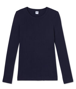T-shirt manica lunga iconica donna blu Smoking