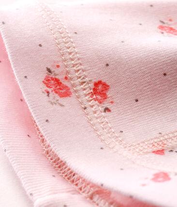 Cuffietta nascita bebè unisex fantasia rosa Vienne / bianco Multico